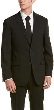 Ike Behar 2Pc Wool Smart Suit With Flat Front Pant