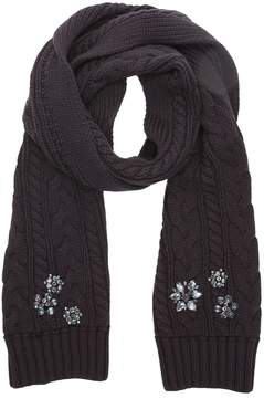 Juicy Couture Embellished Chunky Cable Scarf