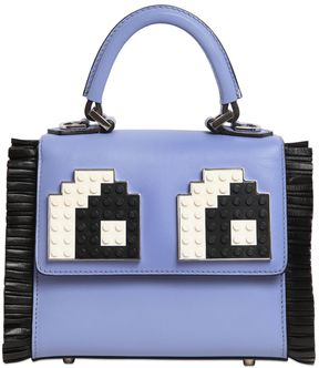Micro Alex Eyes Fringed Top Handle Bag