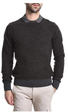 Eleventy Men's Brown Cotton Sweater.