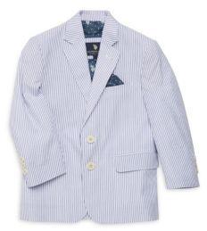 U.S. Polo Assn. Little Boy's & Boy's Striped Cotton Blazer