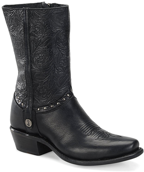 Sonora Black Bailey Leather Cowboy Boot