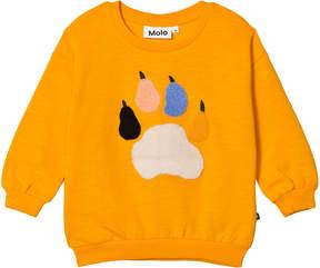 Molo Saffron Yellow Maja Paw Print Sweatshirt