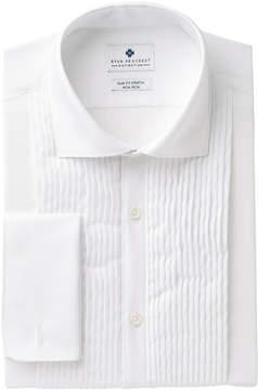Ryan Seacrest Distinction Men's Slim-Fit Stretch Non-Iron White French Cuff Tuxedo Dress Shirt, Created for Macy's