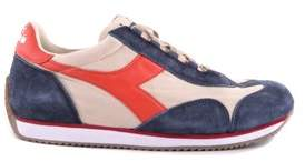 Diadora Heritage Men's Blue Suede Sneakers.