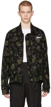 Off-White Black Tapestry Bomber Jacket