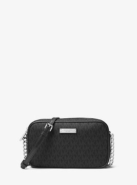 Michael Kors Jet Set Travel Logo Crossbody - BLACK - STYLE