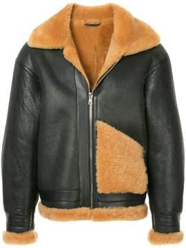 H Beauty&Youth boxy leather jacket