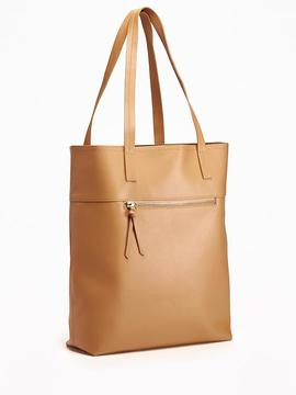 Unstructured Faux-Leather Tote for Women