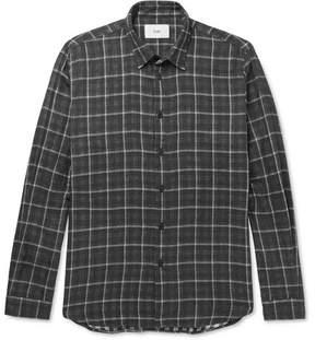 Folk Slim-Fit Plaid Cotton Shirt