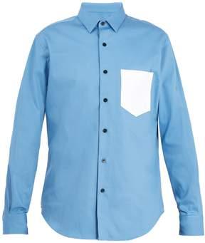 Ami Contrast pocket cotton shirt