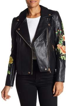 Blank NYC BLANKNYC Embroidered Floral Moto Jacket