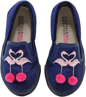 Sophia Webster Kingston Velvet Slip-On Sneakers