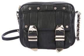 Rebecca Minkoff Embellished Leather Crossbody Bag - BLACK - STYLE
