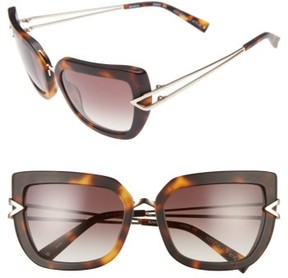KENDALL + KYLIE Women's Bianca 56Mm Cat Eye Sunglasses - Matte Dark Demi/ Shiny Gold