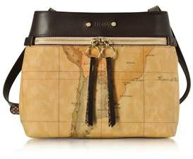 Alviero Martini Women's Brown Canvas Shoulder Bag.