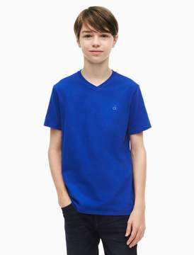 Calvin Klein boys iconic logo v-neck t-shirt