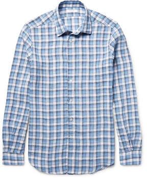 Boglioli Checked Linen Shirt