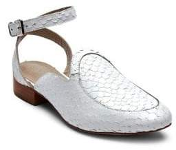 Matisse Half Moon Leather Ankle-Strap Flats