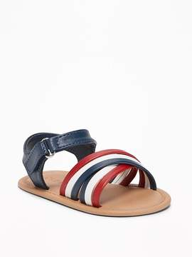 Old Navy Red, White & Blue Cross-Strap Sandals for Baby