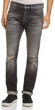 7 For All Mankind Cuffed Paxton Skinny Fit Jeans in Blowout