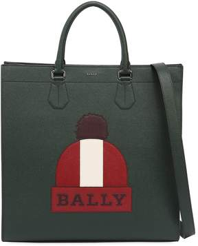 Bally Beanie Printed Leather Tote Bag