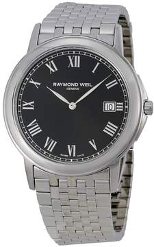Raymond Weil Tradition Black Dial Steel Men's Watch