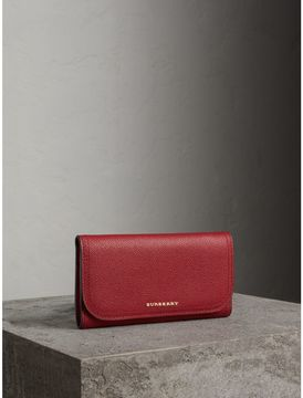Burberry Leather Continental Wallet with Removable Coin Case