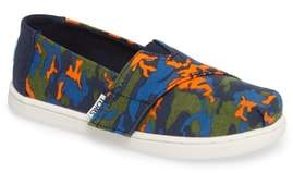 Toms Tiny Alpargata Print Slip-On