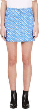 Kenzo Periwinkle and White Denim Skirt