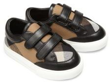 Burberry Baby's Mini Heacham Leather & Cotton Sneakers