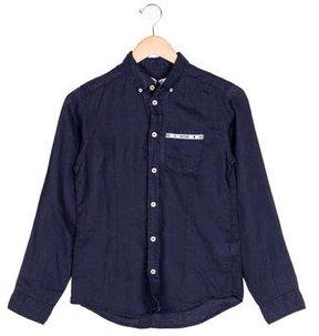 Moschino Boys' Long Sleeve Button-Up Shirt