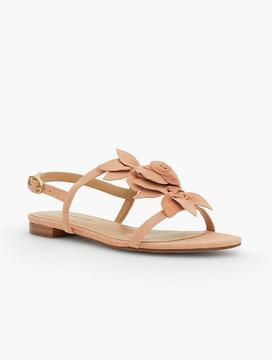 Talbots Keri Floral T-Strap Sandals