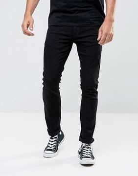 Nudie Jeans Tight Long John Skinny Jeans Black Wash
