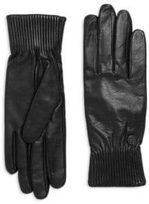 Canada Goose Ribbed Leather Gloves