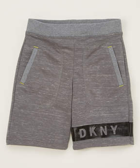 DKNY Charcoal Heather Courtside Shorts - Toddler