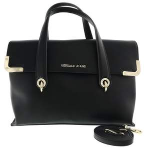 Versace EE1VRBBA5 Black Satchel Bag W/ detachable strap