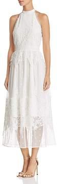 Aqua Botanical Lace Appliqué Midi Dress - 100% Exclusive
