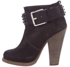 Barbara Bui Suede Spiked Ankle Boots