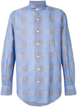 Finamore 1925 Napoli button up checked shirt