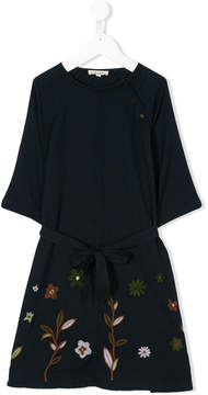 Caramel Belsay embroidered dress