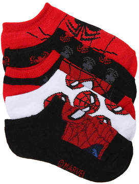 Marvel Spiderman Toddler No Show Socks - 5 Pack - Boy's