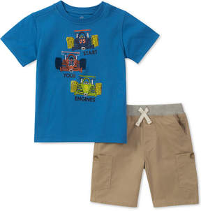 Kids Headquarters Little Boys Set, 2-Pc. Graphic-Print T-Shirt & Shorts