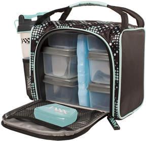Fit & Fresh Aqua Dot Jaxx FitPak Meal Prep Bag & Portion Control Container Set