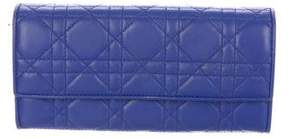 Christian Dior Leather Cannage Flap Wallet