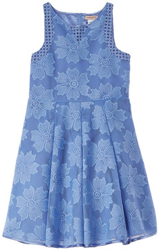 Nanette Lepore Novelty Eyelet Blue Dress
