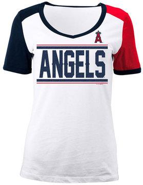5th & Ocean Women's Los Angeles Angels Cb Sleeve T-Shirt