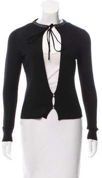 Courreges Embellished Button-Up Cardigan
