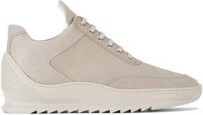 Filling Pieces Grey Low top heel cap sneakers