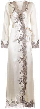 Carine Gilson Lace Trim Silk Robe